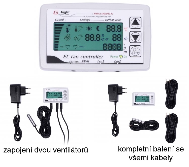 GSE CO2 CONTROLLER (2FAN) 2A - REGULACE TEPLOTY, VLHKOSTI A CO2